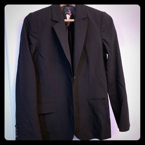 J Crew Black Long & Lean Blazer, Size 2